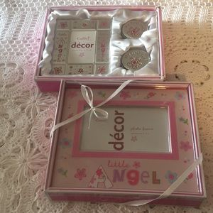 Boxed Baby Girl Decor Frames, First Tooth, Curl